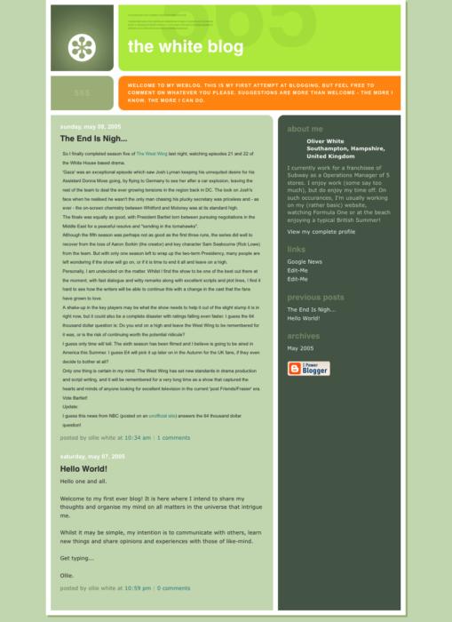 The White Blog v1