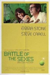 "Poster for the movie ""Battle of the Sexes"""