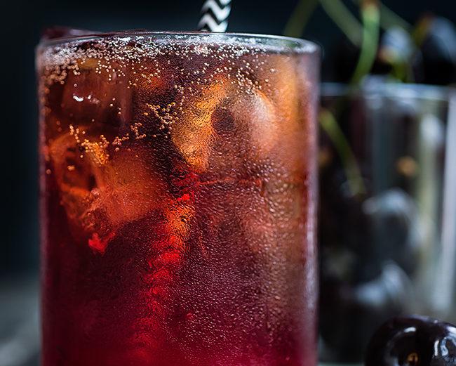 Bourbon Cola Cherry Smash