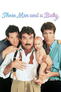 "Poster for the movie ""3 Men and a Baby"""