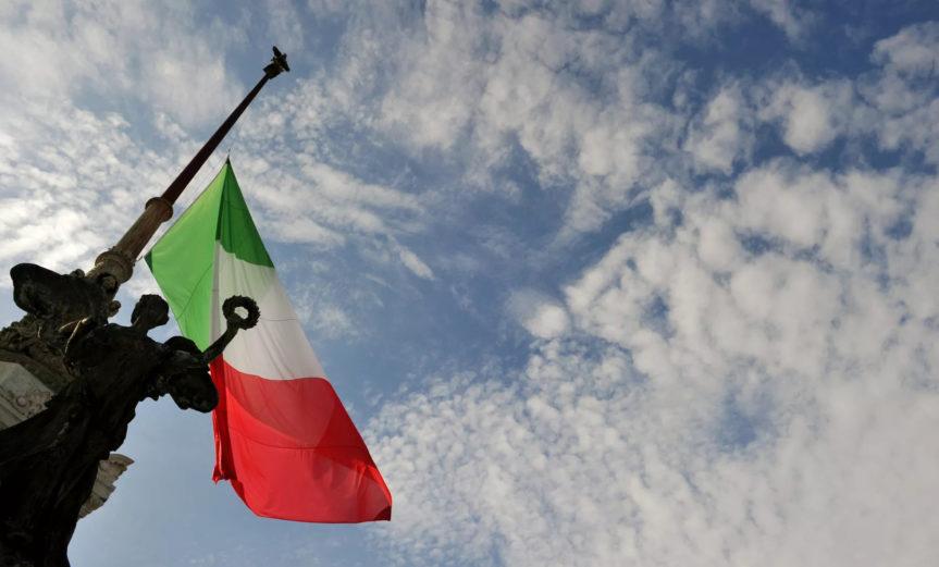 Italian Flag Half-Mast
