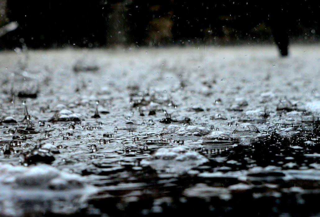 Raindrops Splashing